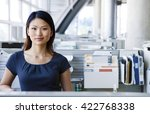 beautiful business woman with a ... | Shutterstock . vector #422768338