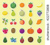 simple cute fruits icon... | Shutterstock .eps vector #422772808