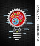 gears infographic background... | Shutterstock .eps vector #422775304
