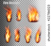 fire flames set. vector. | Shutterstock .eps vector #422786023
