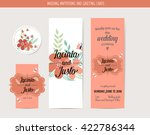 wedding invitation card with... | Shutterstock .eps vector #422786344