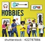 hobby free time leisure media... | Shutterstock . vector #422787886