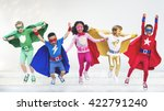 superheroes kids friends... | Shutterstock . vector #422791240
