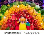 little girl with variety of... | Shutterstock . vector #422793478
