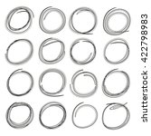 blank circle highlighter set ...   Shutterstock .eps vector #422798983