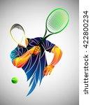 tennis player vector  abstract... | Shutterstock .eps vector #422800234