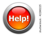 illustration of glossy help...   Shutterstock . vector #42280225