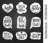 vector set of sale lettering in ... | Shutterstock .eps vector #422803666