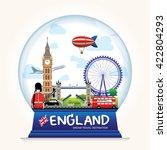 snowball england vector.... | Shutterstock .eps vector #422804293