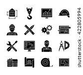 blueprint black white flat... | Shutterstock .eps vector #422805994