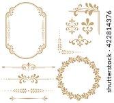 vintage set. floral elements... | Shutterstock . vector #422814376