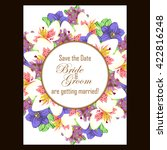 romantic invitation. wedding ... | Shutterstock . vector #422816248