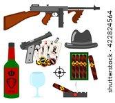 isolated vector gangster set on ... | Shutterstock .eps vector #422824564
