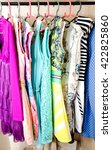 women's dresses on hangers in... | Shutterstock . vector #422825860