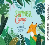 summer forest camp banner or... | Shutterstock .eps vector #422832670