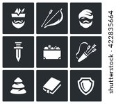vector set of robin hood icons. ... | Shutterstock .eps vector #422835664