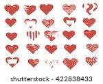 vector heart | Shutterstock .eps vector #422838433