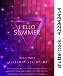 club party flyer. hello summer... | Shutterstock .eps vector #422842414