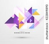 geometric vector background.... | Shutterstock .eps vector #422849890