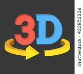 3d rotate button sign icon in...