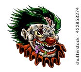 zombie evil clown.vector... | Shutterstock .eps vector #422853274