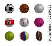 collection of sport ball vector ... | Shutterstock .eps vector #422859133