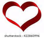 red ribbon in heart shape on... | Shutterstock . vector #422860996