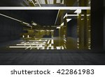 empty abstract concrete room... | Shutterstock . vector #422861983