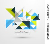 geometric vector background.... | Shutterstock .eps vector #422866690