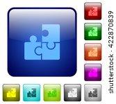 set of color puzzle glass web...