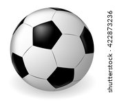 vector soccer ball on white... | Shutterstock .eps vector #422873236