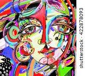 original abstract digital... | Shutterstock .eps vector #422878093