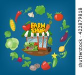 farm shop infographics design.... | Shutterstock .eps vector #422879818