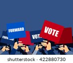 election campaign  holding... | Shutterstock .eps vector #422880730