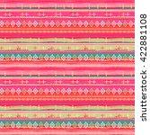 ethnic boho seamless pattern.... | Shutterstock .eps vector #422881108