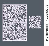 laser cut vector panel and the... | Shutterstock .eps vector #422883373