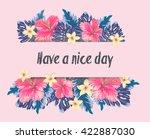 vector card with hawaiian... | Shutterstock .eps vector #422887030
