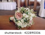 wedding bouquet in a historic... | Shutterstock . vector #422890336
