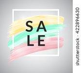 stylish sale banner  template... | Shutterstock .eps vector #422896630