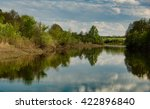 mirror river in russia... | Shutterstock . vector #422896840