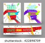set of grand opening colorful... | Shutterstock .eps vector #422898709