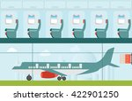 airplane at the airport  on... | Shutterstock .eps vector #422901250