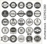 retro vintage badges and labels ... | Shutterstock .eps vector #422901280