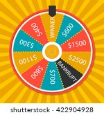 fortune wheel vector... | Shutterstock .eps vector #422904928