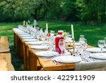 decorated wedding table with... | Shutterstock . vector #422911909
