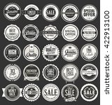 retro vintage badges and labels ... | Shutterstock .eps vector #422913100