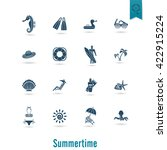 summer and beach simple flat... | Shutterstock .eps vector #422915224
