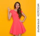 smiling beautiful young woman...   Shutterstock . vector #422921164