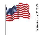 realistic usa flag | Shutterstock .eps vector #422921368