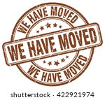 we have moved. stamp | Shutterstock .eps vector #422921974